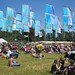 Blue flags at WOMAD