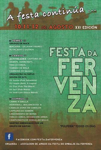 Mazaricos 2012 - Festa do embalse da Fervenza - cartel