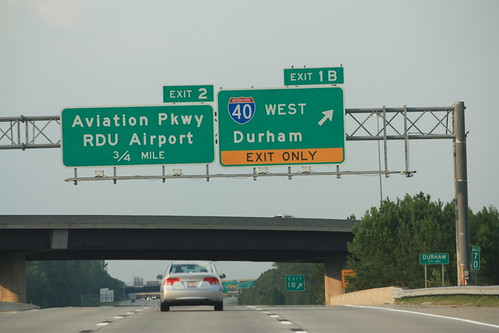 Start of I-540 East - Exits 1B and 2