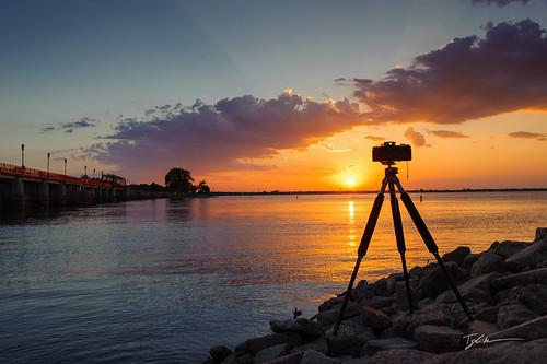 sunset lake nikon g617 d700