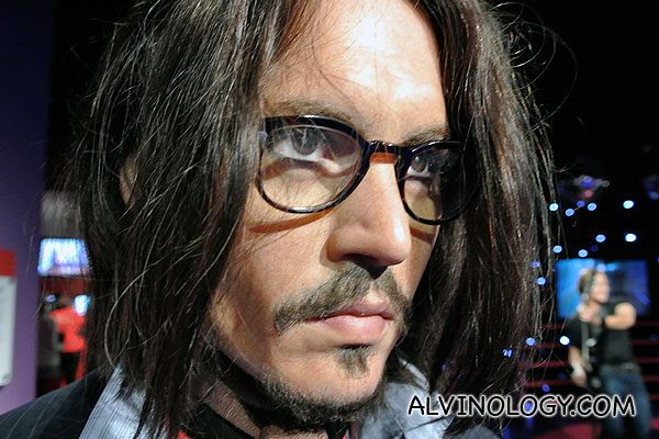 Close head shot of Johnny Depp