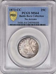 1873-CC No Arrows Quarter