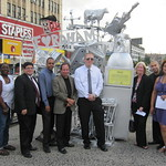 Marche and members of the Fordham Rd. BID at the dedication of Silver.