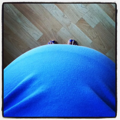 belly at 30 weeks. I can pretend I can't see my toes. only 9 weeks, 63 days, and 9 appointments to go...