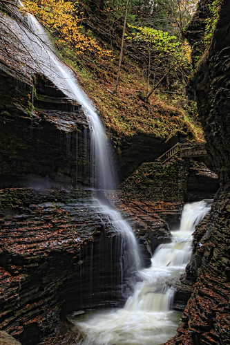 park new york waterfall agua state glen waterfalls seda watkins efecto cascadas cayendo