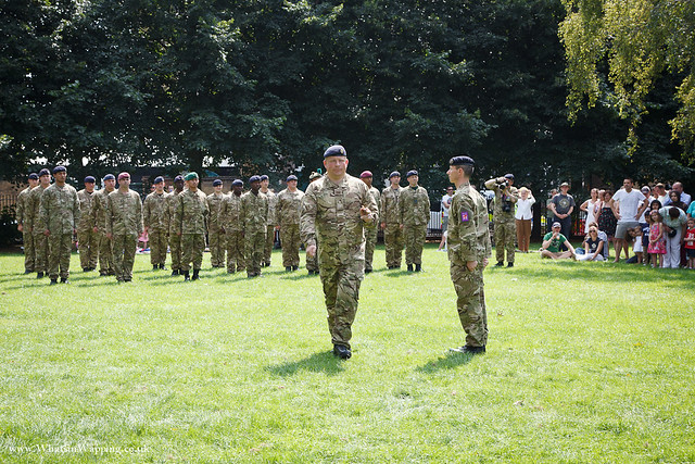 Ceremony for Tobacco Dock armed forces and community workers in Wapping Rose Gardens - 12 August 2012