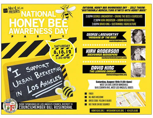 National Honey Bee Awareness Day: August 18th