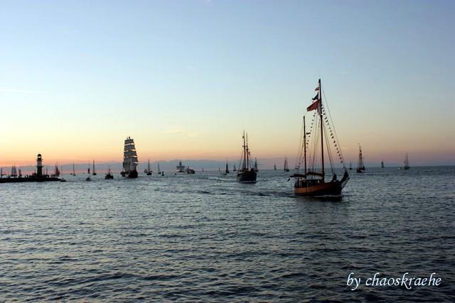 Einfahrt von der Ostsee auf die Warnow