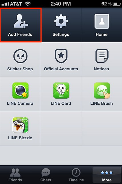 LINE - iPhone - Add Friends
