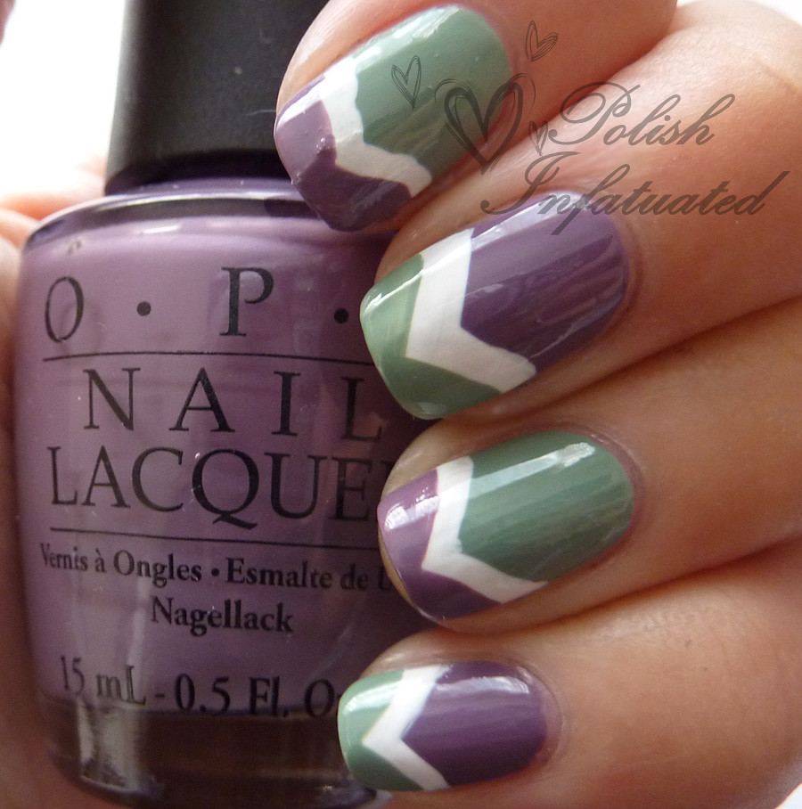 green, white & purple chevron3