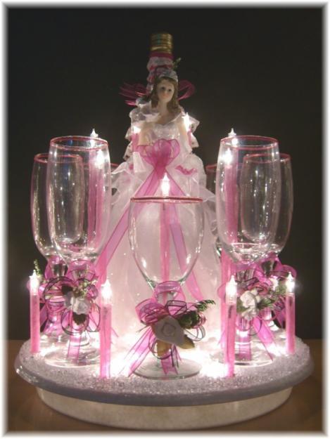 1323581236 290162453 2 fotos de brindis para bodas - Como decorar copas de cristal ...