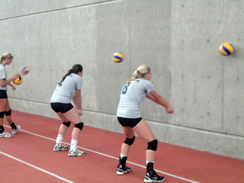 hitting it against the wall