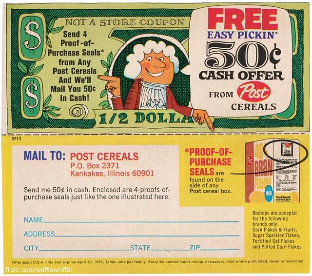 Super Sugar Crisp - Cereal Coupon - 1968
