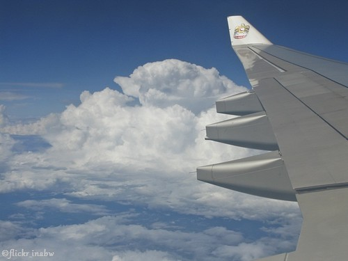 travel blue sky cloud green window nature horizontal plane airplane landscape outdoors flying day view aircraft wing engine aerialview nopeople journey commercial transportation airline cloudscape scenics colorimage airvehicle marinabwfs