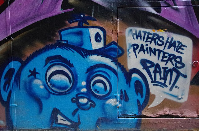 """Haters Hate, Painters Paint"" - Melbourne Street Art"