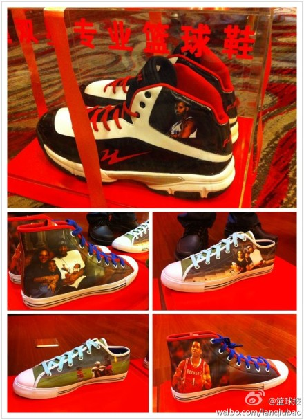 October 25th, 2012 - The shoes that are gifted to Tracy McGray from the company that owns his new team in Qingdao, China