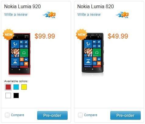 AT&T Nokia Lumia 920 and 820