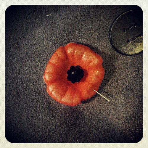 How to not lose your poppy - pull the pin through one of the petals after you affix it to your coat! #remembranceday
