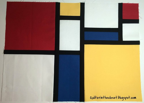 Mondrian inspired mini quilt (WIP)
