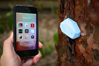 an ibeacon and a smartphone