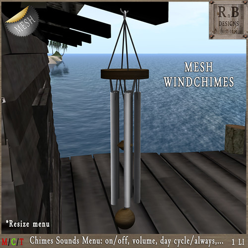 PROMO 60L ! *RnB* Mesh Windchimes v2 - Sounds Menu (copy)