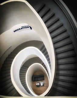 Image of George Washington University. museum architecture stairs contrast us washington districtofcolumbia unitedstates engineering staircase migration arcs gwu textilemuseum
