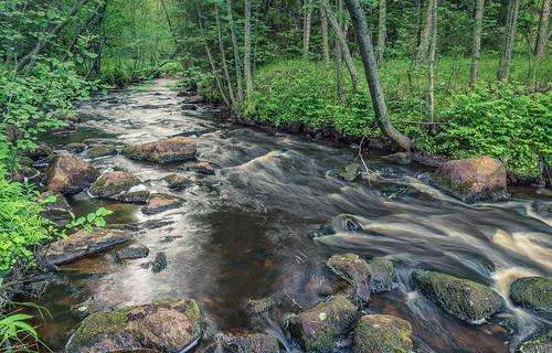 pattijoki lasikangas ylipää raahe finland rapid creek river water rocks nature summer night midsummer lindeläntie june