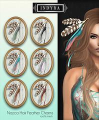 {Indyra} Nazca Hair Feather Charms