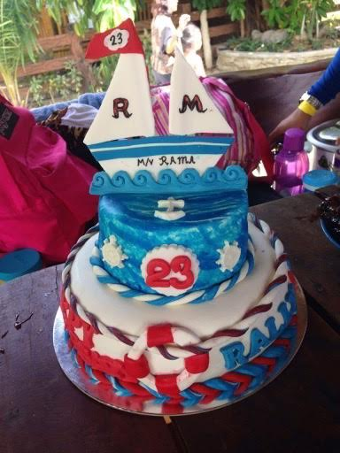 Nautical Theme Cake by Mariss Abanales of Purple Heart Cakes