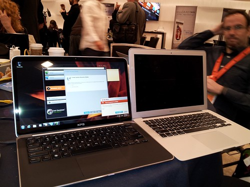 Dell XPS 13  And MacBook Air 13 side by side