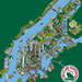 101 New York Sights - Tourist Attractions Map for Circle Line Sightseeing Cruises - NYC map Illustration by Rod Hunt - isometric pixel art