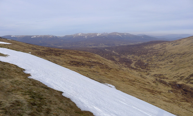 Looking over the Geldie to the Cairngorms