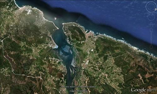 Desembocadura do Miño dende os muíños do Folón e Picón
