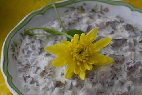 Nami-Nami Easter Brunch 2012: wild mushroom salad (Pireti võiseenesalat)