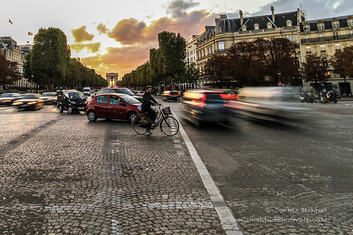 Rush hour in Paris