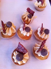 Turkey bacon chocolate peanut butter cupcakes by Rachel from Cupcakes Take the Cake