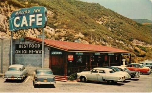 malibu inn 1963 postcard