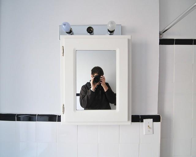 Self Portrait in Bathroom Mirror   Flickr - Photo Sharing!