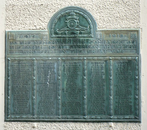 Close up of Forth Royal Garrison Artillery Memorial, Kirkcaldy