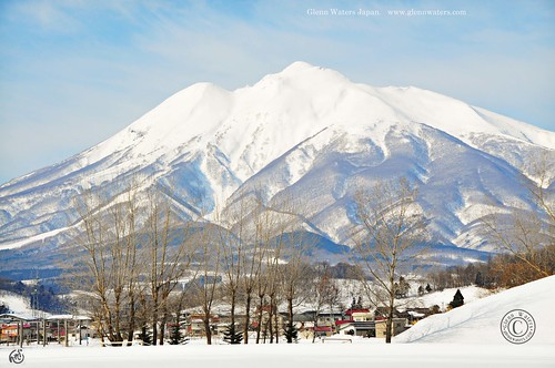 Iwaki Mountain in Winter (Hirosaki Japan). © Glenn Waters.