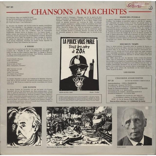 Les Quatre Barbus - Chansons Anarchistes  (1969)_003