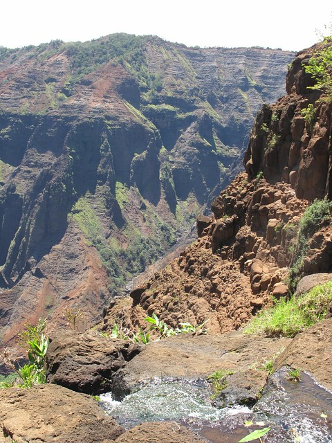 Waimea Canyon from the top of Waipo'o Falls