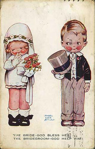 VintageVictorianWeddingPostcard