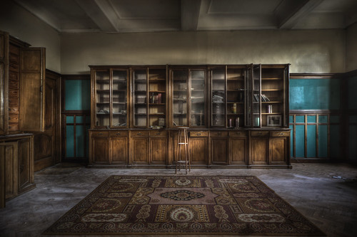 Abandoned monastery library :  (explore )