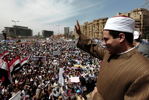 Thousands came out to Tahrir Square in Cairo to protest the Egyptian electoral commission's handling of the upcoming presidential poll on April 20, 2012. Leading candidates for the Islamists and other forces have been disqualified. by Pan-African News Wire File Photos