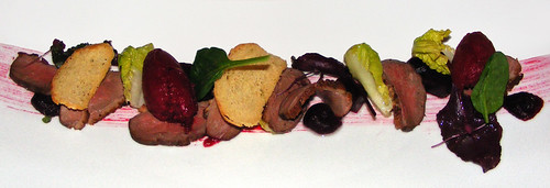 Duck breast with beetroot