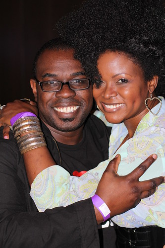 Martin Johnson Pratt & Abiola Abrams at Black Enterprise Magazine 40/40 Party