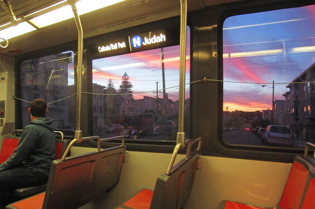 sunset POV N Judah at 19th ave; The Sunset, San Francisco; June 16, 2012