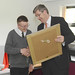 Education Minister John O'Dowd visits Castle Tower Special School, Ballymena
