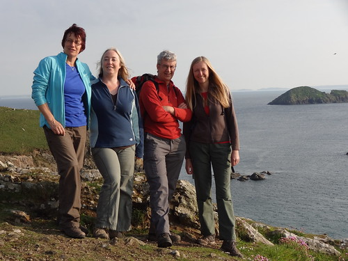 "Steffi, Hazel, Dave and me, shortly after ""refreshments"" at Solva, Pembrokeshire Coast Path"